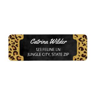 Girly Gold Glitter | Cheetah Wild Animal Print