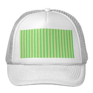Girly Green Mint Stripes Pattern Trucker Hat
