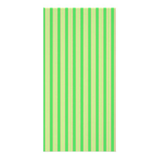 Girly Green Mint Stripes Pattern Personalized Photo Card