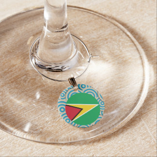 Girly Guyanese Flag Gift Wine Charm
