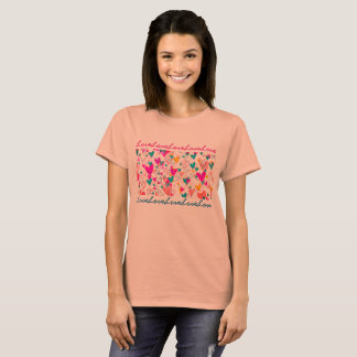 Girly Hearts Love Pattern Romantic Lovely T-Shirt