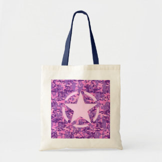 Girly Hot Pink Digital Camouflage Decor Budget Tote Bag