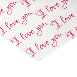 """Girly """"I love you"""" Tissue Paper"""