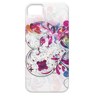 Girly iPhone5 Abstract Pink Heart Case-Mate Case