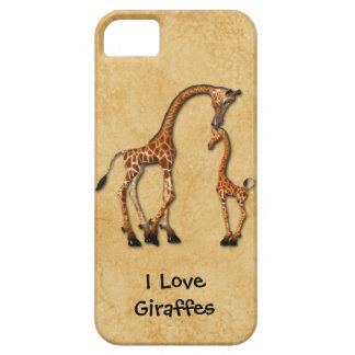 Girly iPhone5 Mother Baby Giraffes iPhone 5 Cases
