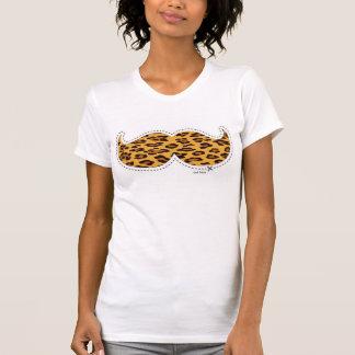 girly leopard mustache T-Shirt