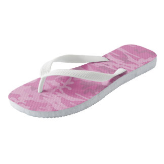 Girly Light Pink Camo Flip Flops