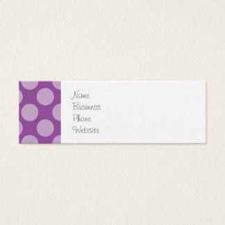 Girly Light Purple Polka Dots on Purple Cute Gifts Mini Business Card