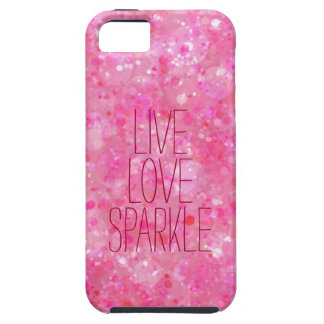 Girly Live Love Sparkle Pink Bokeh iPhone 5 Case