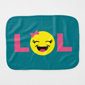 Girly LOL Emoji Burp Cloth
