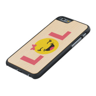 Girly LOL Emoji Carved Maple iPhone 6 Case