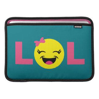 Girly LOL Emoji MacBook Sleeve