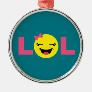 Girly LOL Emoji Metal Ornament