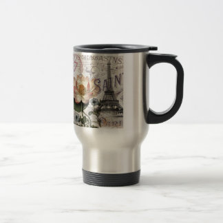 girly lotus flower vintage paris eiffel tower mug