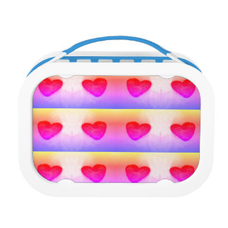 Girly lunch box with hearts