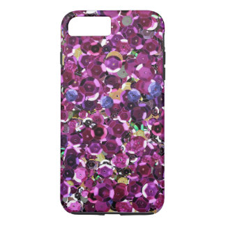 Girly Magenta Pink Faux Sequins Case-Mate iPhone Case