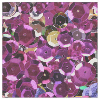 Girly Magenta Pink Faux Sequins Fabric