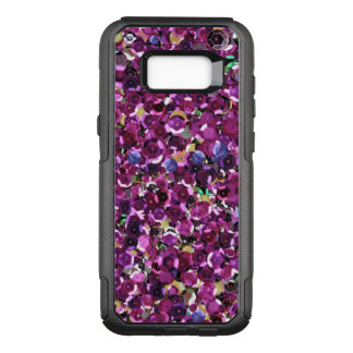Girly Magenta Pink Faux Sequins OtterBox Commuter Samsung Galaxy S8+ Case
