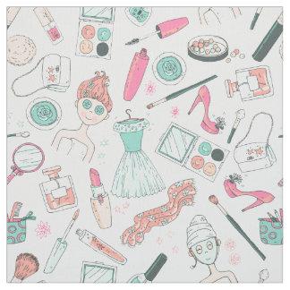Girly Makeup Beauty Fashion  ID379 Fabric