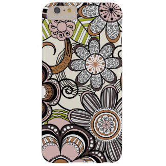 Girly Mehndi Floral Design Barely There iPhone 6 Plus Case