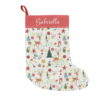 Girly Merry Christmas Reindeer |Christmas Stocking