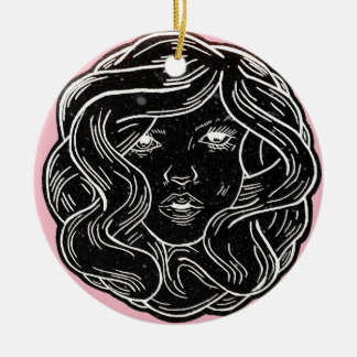 Girly message ceramic ornament