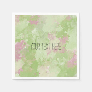 Girly Mint Pink Abstract Napkin