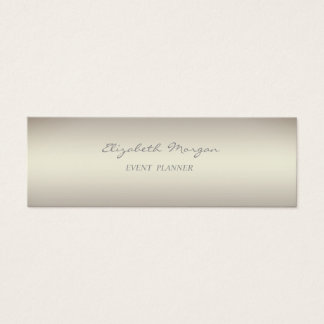 Girly Modern Minimalistic Luminous Silver Mini Business Card