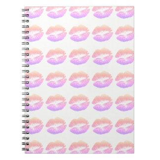 Girly & Modern Neon Lips Custom Spiral Notebook