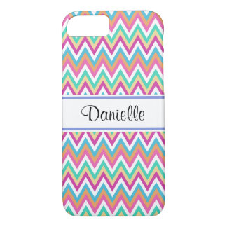 Girly Modern Pastel Chevrons iPhone 8/7 Case