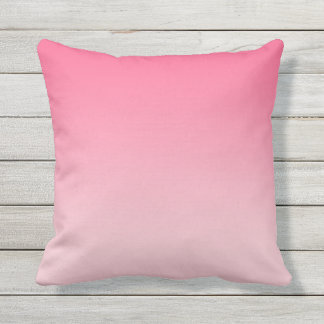 Girly Modern Pink Ombre Throw Pillow
