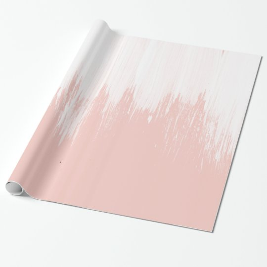 Girly modern pink watercolor paint brushstrokes