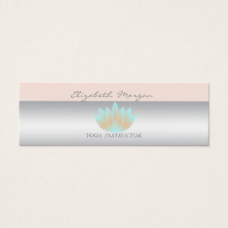Girly Modern Professional Charming,Lotus Mini Business Card