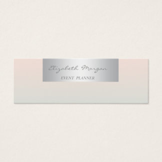 Girly Modern Professional Charming Mini Business Card