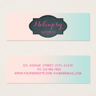 Girly Modern Professional Mini Business Card