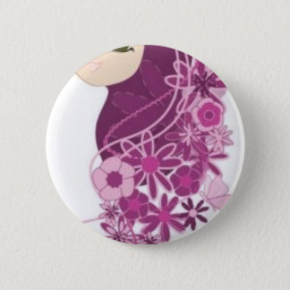 Girly Modesty 2 Inch Round Button