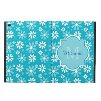 Girly Monogram Turquoise Daisy Flowers With Name Powis iPad Air 2 Case