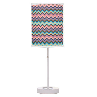Girly Multicolor Chevron Pattern Table Lamp