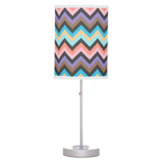 Girly Multicolor Chevron Pattern Table Lamps