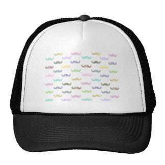 Girly mustache pattern mesh hats