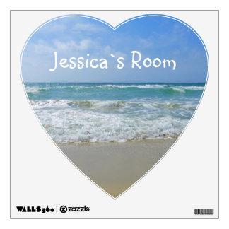 Girly Name Room Beach and Sea Wall Sticker