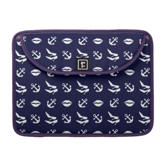 Girly nautical pattern sleeve for MacBook pro