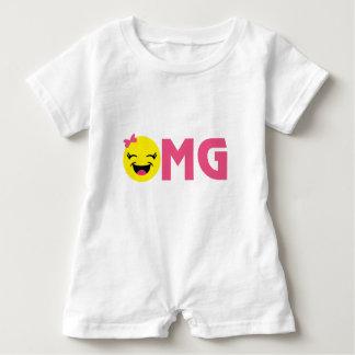 Girly OMG Emoji Baby Romper