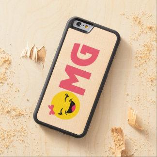 Girly OMG Emoji Carved Maple iPhone 6 Bumper Case