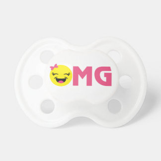 Girly OMG Emoji Pacifier