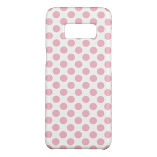 Girly Pale Pink White Polka Dots Pattern Case-Mate Samsung Galaxy S8 Case