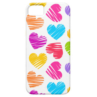 Girly pastel love hearts pattern iPhone 5 covers