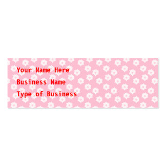 Girly Pastel Pink Floral Pattern. Mini Business Card