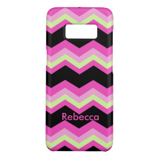 girly pattern zigzag fuchsia hot pink chevron Case-Mate samsung galaxy s8 case