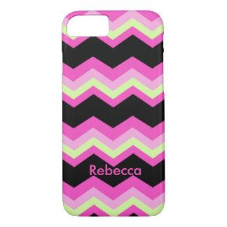 girly pattern zigzag fuchsia hot pink chevron iPhone 8/7 case